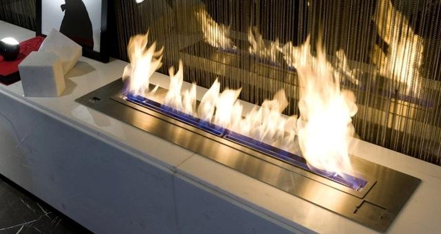 cheminée qui fonctionne au gaz